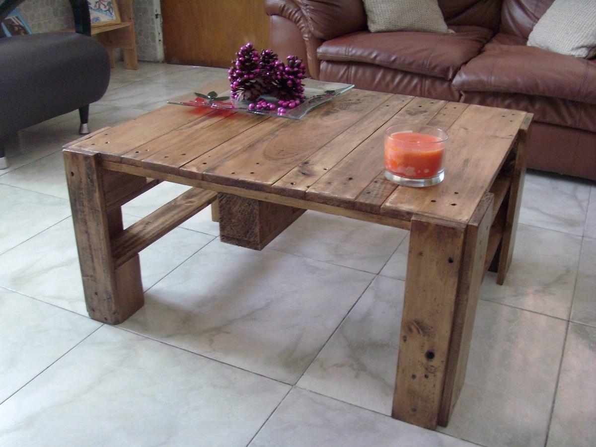 Mesas de palets top beautiful cmo hacer mesas con palets for Mesas hechas con palets de madera