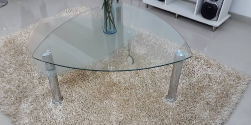 mesa de centro en vidrio