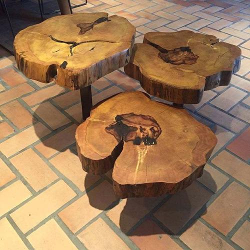 mesa de centro e/ou mesa lateral rustica tronco tora