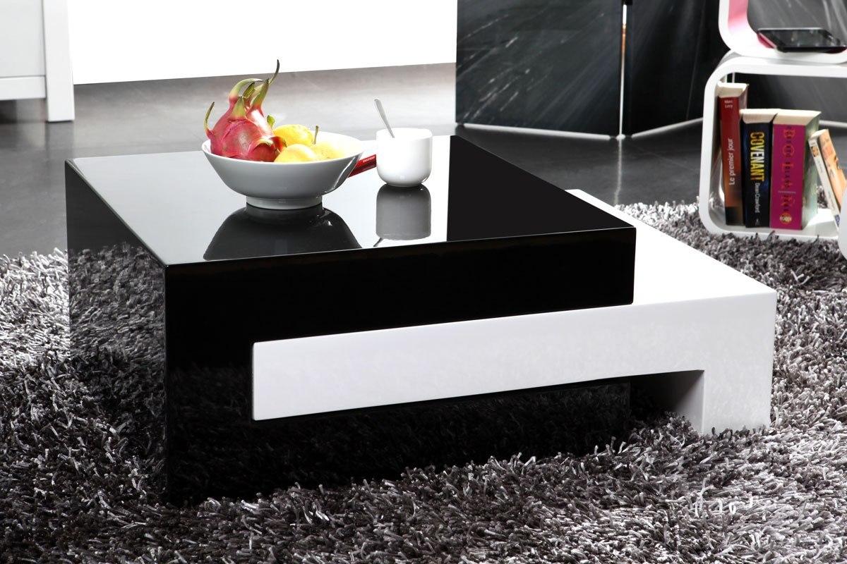 Mesa de centro expandible minimalista lacada ref luna - Mesas de centro minimalistas ...