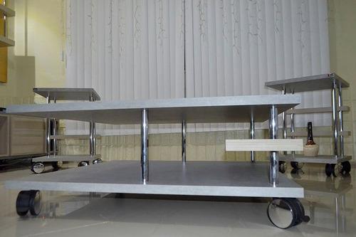 mesa de centro ferrari design moderno mdf 25mm extra forte