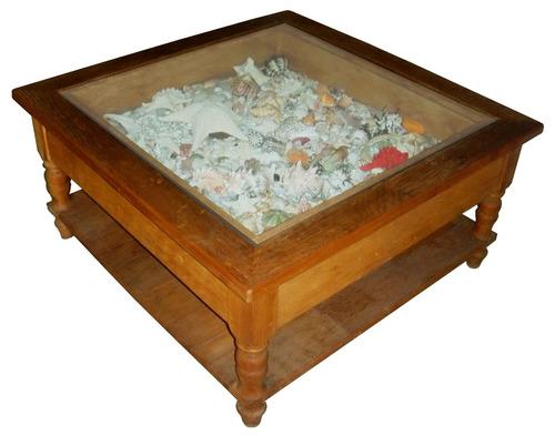 mesa de centro - gaveta expositor
