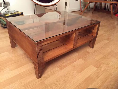 mesa de centro gracia 125x85x80 madera pantano pallet