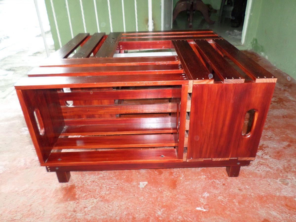 Mesa de centro hecha con huacal de madera 1 en for Mesas de jardin precios
