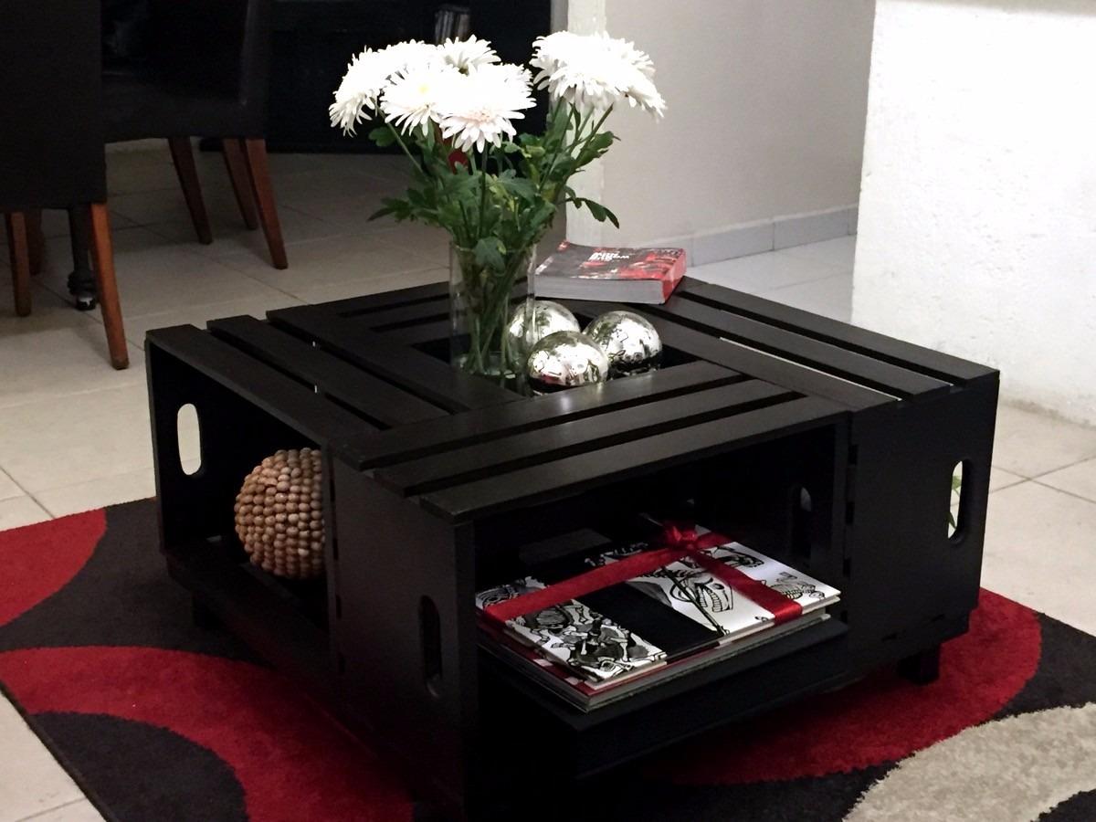 Mesa de centro hecha con huacal de madera 1 en - Precios de mesas de centro ...