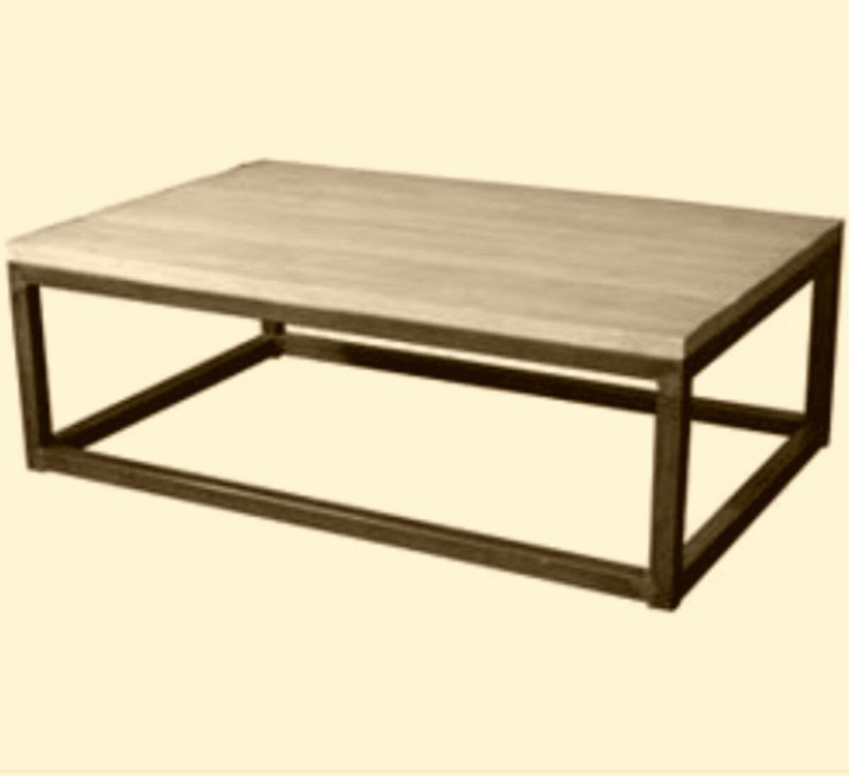 Mesa de centro hierro y madera en mercado libre - Mesa centro madera y hierro ...