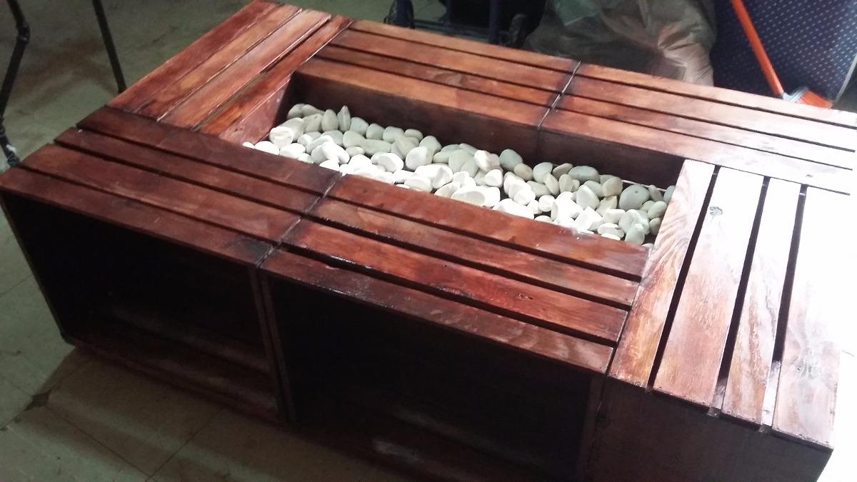 Mesa con palets de madera trendy mesa de centro huacal - Madera de palet ...