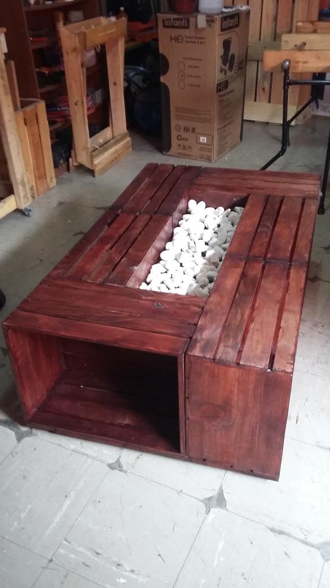 Mesa de centro huacal palet madera pallets tarima - Mesa centro palet ...