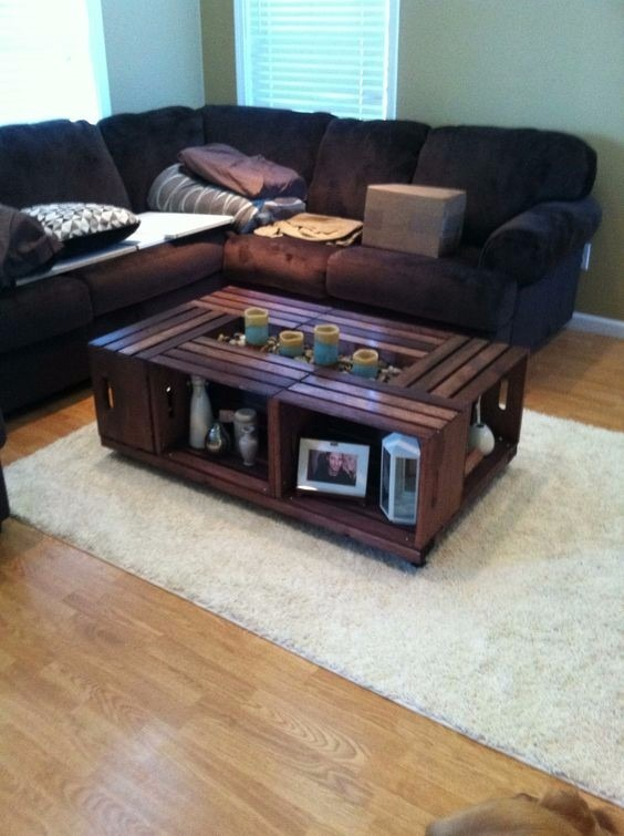 mesa de centro huacal palet madera pallets tarima