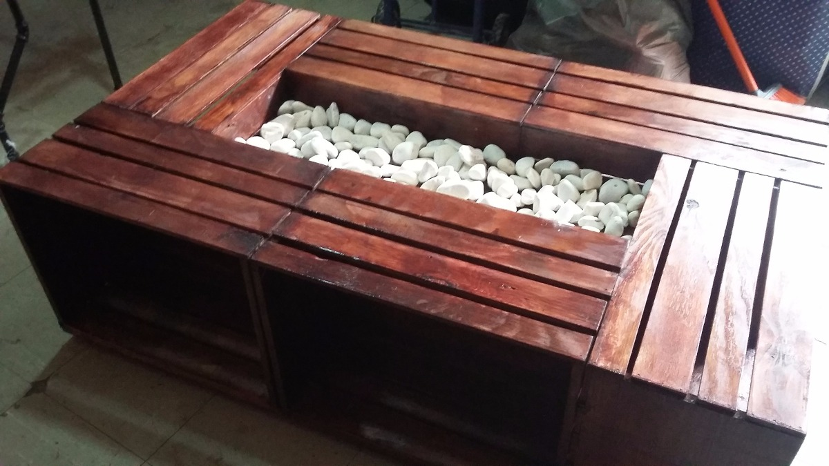 Mesa de centro huacal palet madera pallets tarima d for Mesa centro madera