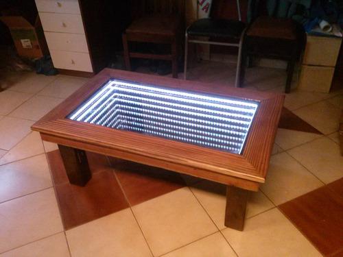 mesa de centro iluminada