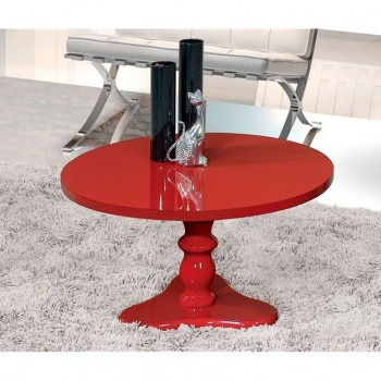 mesa de centro intense retrô vermelho - patrimar