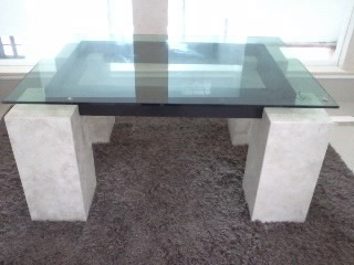 Mesa de centro marmol cristal 4 en mercado libre - Mesas de marmol y cristal ...