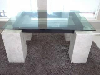 Mesa de centro marmol cristal 4 en mercado libre for Mesa centro marmol
