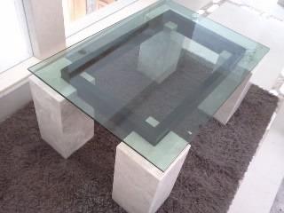 Mesa de centro marmol cristal 4 en mercado libre for Mesas de centro de diseno de cristal