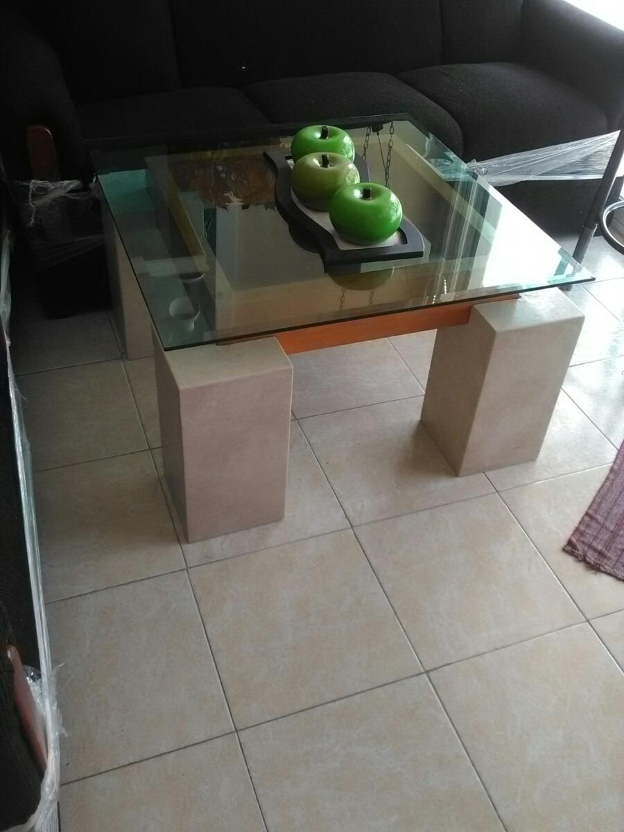 Mesa de centro marmol cristal 4 en mercado libre - Mesa centro madera y cristal ...