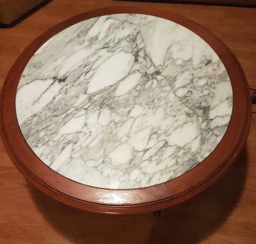 mesa de centro mármol de carrara