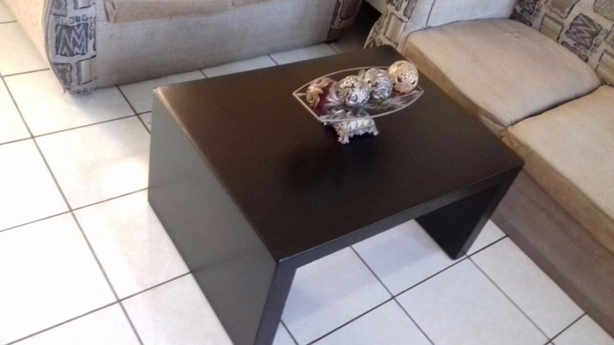 Mesa de centro minimalista chocolate madera sala 899 for Mesas de centro de madera para sala