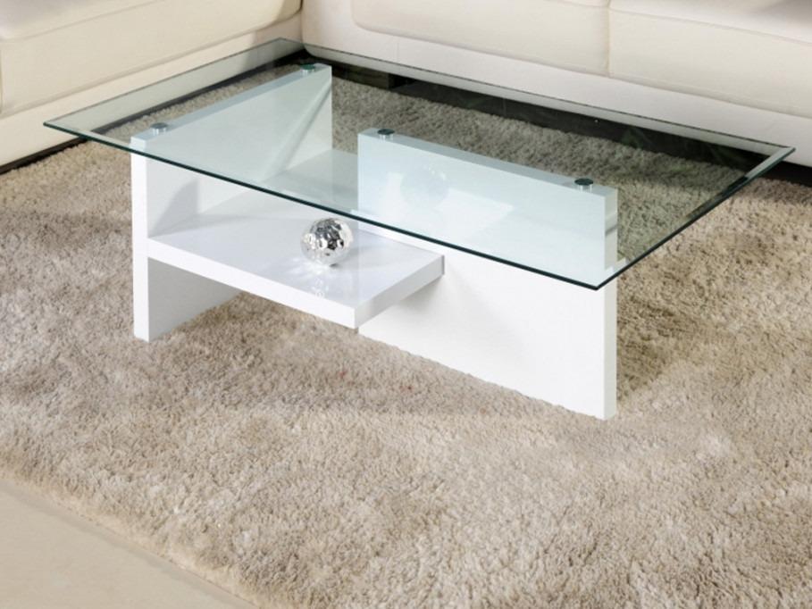 Mesa de centro moderna con vidrio templado ref maurane for Centro de mesa de cristal