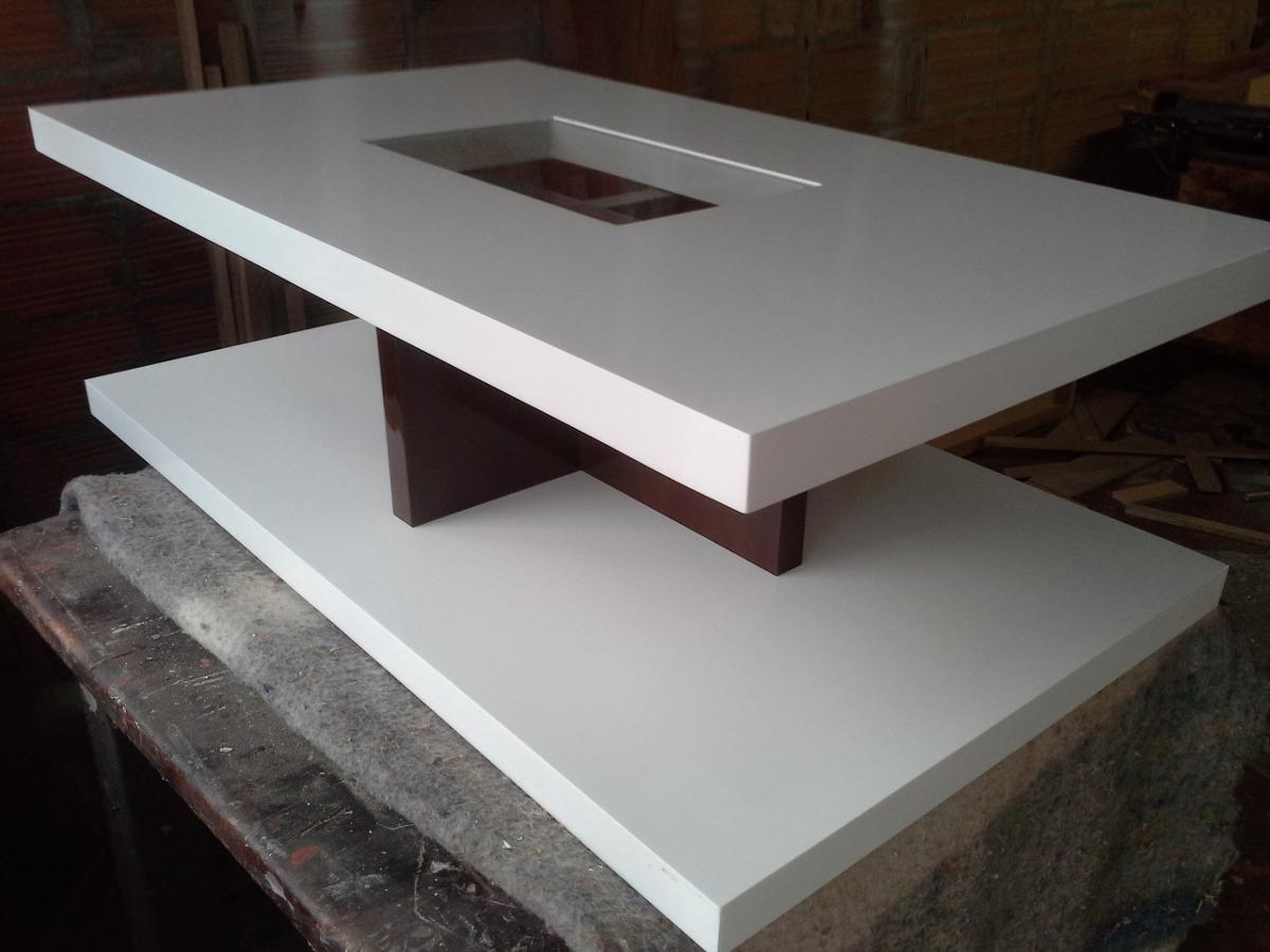 Mesa de centro moderna den madera lacada ref crux2 - Mesas de madera modernas ...