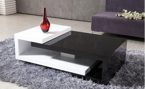 mesa de centro moderna lacada en poliuretano ref: master