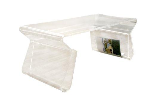 Mesa de centro moderna material acr lico transparente hm4 6 en mercado libre - Mesa centro transparente ...