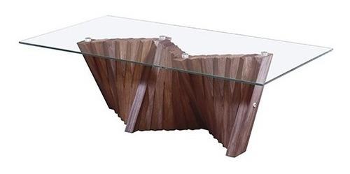 mesa de centro montreal - nogal këssa muebles