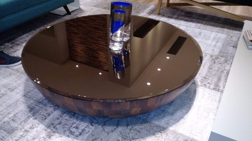 mesa de centro oca - madeira de demolição - 1,20 metros