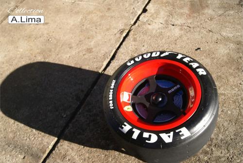 mesa de centro pneu slick de competição ford dodge gm hotrod