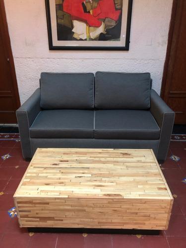 mesa de centro reciclato de madera recuperada