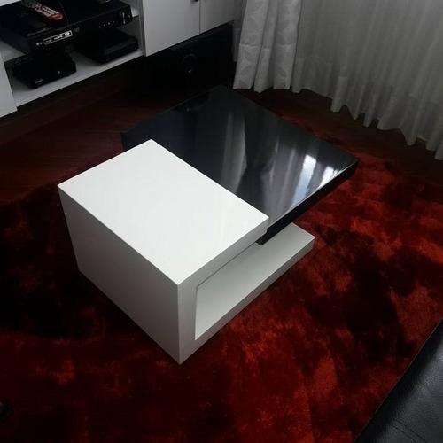 mesa de centro ref: master en madera lacada poliuretano