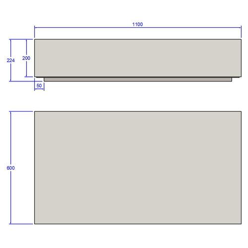 mesa de centro retangular uvim branco ib