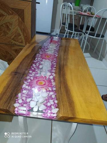 mesa de centro  river table  resinada
