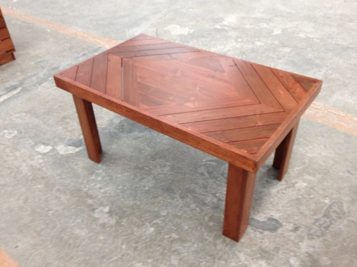 mesa de centro rombo madera tarima sustentable