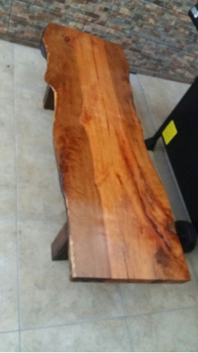mesa de centro rústica