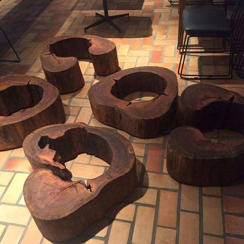 mesa de centro rustica tronco tora
