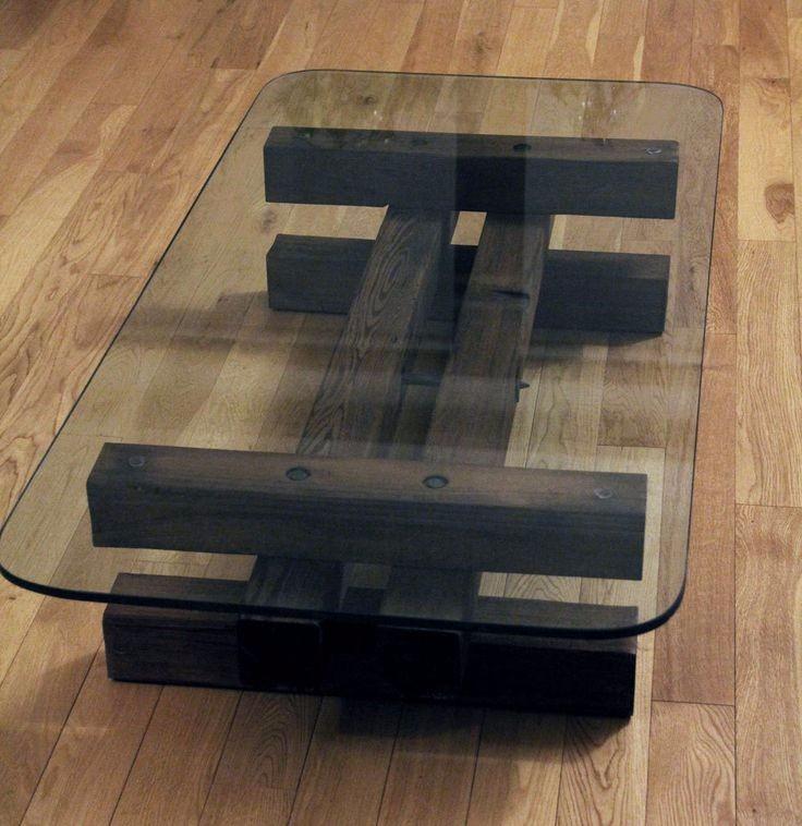 Mesa de centro rustica vigas madera maciza u s 110 00 - Vigas redondas de madera ...