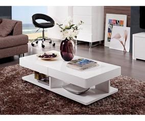 Mesa De Centro Sala Diseno Moderna Expandible Ref Aramis
