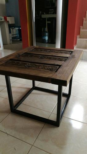 mesa de centro tallada
