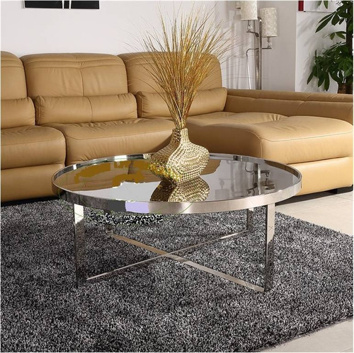 mesa de centro tapa vidrio transparente helena