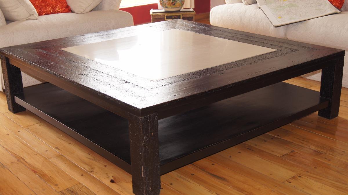 Mesa de centro tipo hacienda para sala madera apolillada for Mesas de centro de madera para sala
