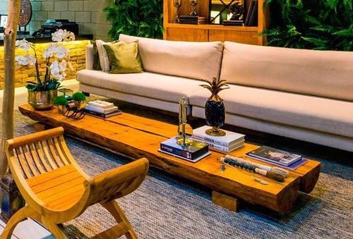 mesa de centro tronco árvore