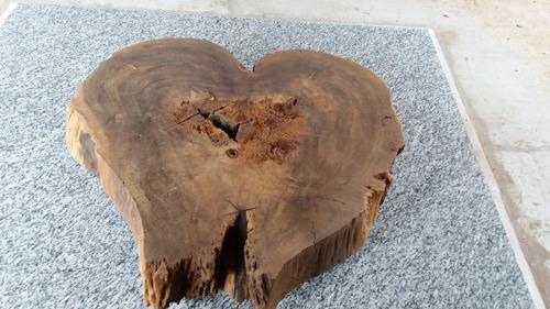 mesa de centro tronco raiz tora rústica madeira