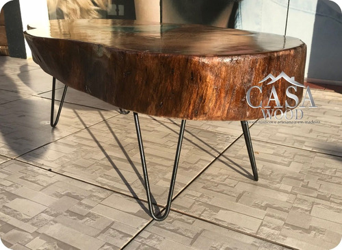 mesa de centro tronco tora rústica bolacha aparador madeira