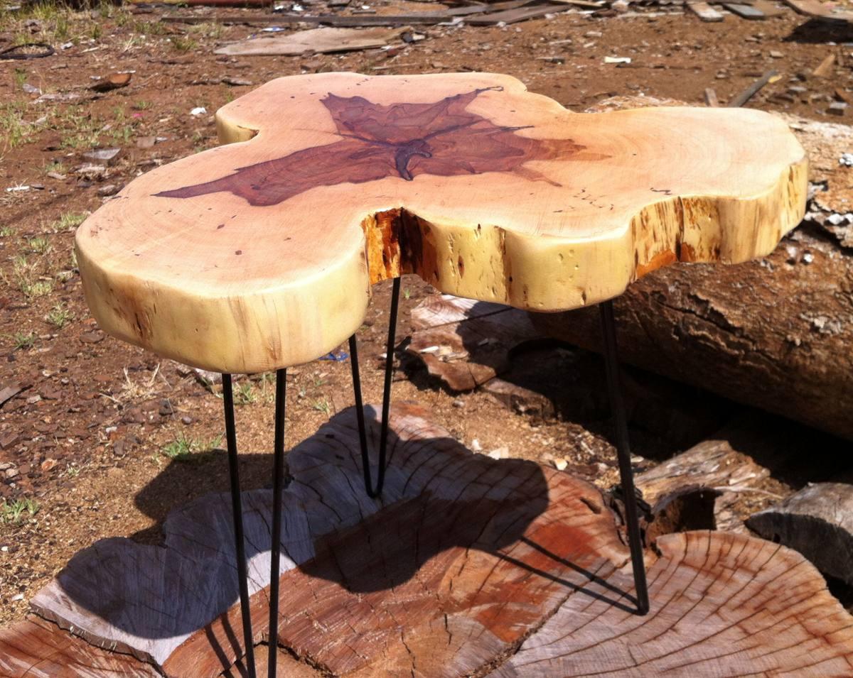 Mesa de centro tronco tora r stica de bolacha mesa lateral - Mesa de centro grande ...