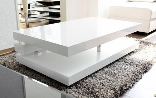 mesa de centro vanguardista lacada poliuretano ref: deko4