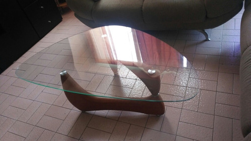 mesa de centro, vidrio templado