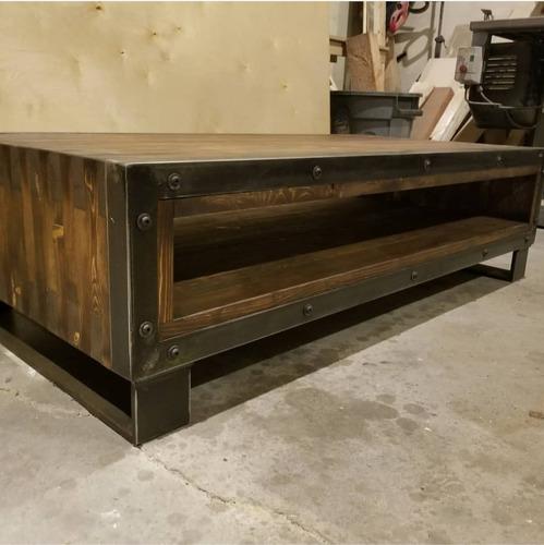 mesa de centro vintage industrial