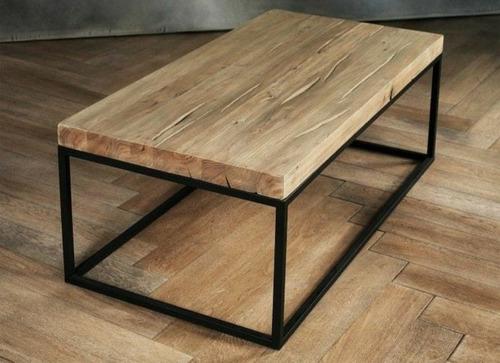 mesa de centro vintage industrial.