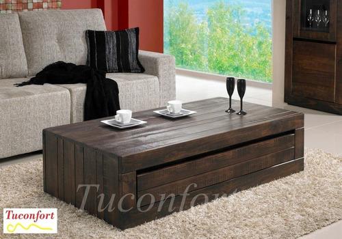 mesa de centro_mesa ratona_madera maciza_cajon